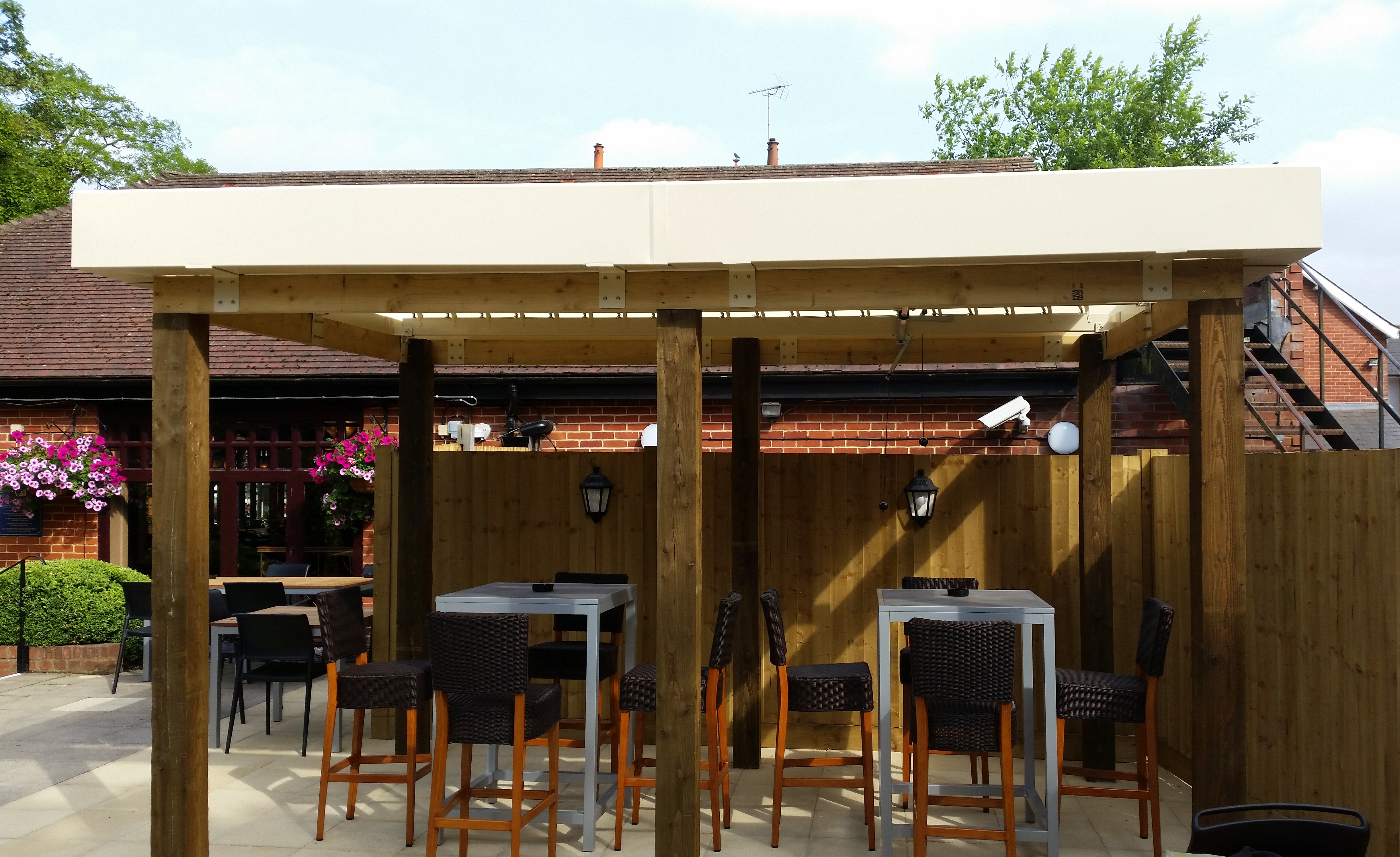 21a pubrestaurant fleet hampshire outdoor commercial drinking and dining area