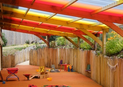 29b South Willesborough Primary School – External covered play area.