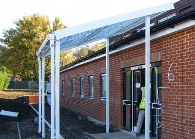 31 WIP Manor Park Primary School LB Sutton- Link Canopy